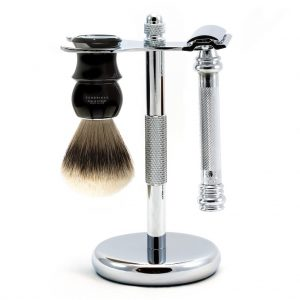 Merkur Barber Pole 38C 6 Pc Wet Shaving Set  on white background