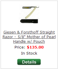Giesen and forsthoff straight razors - white