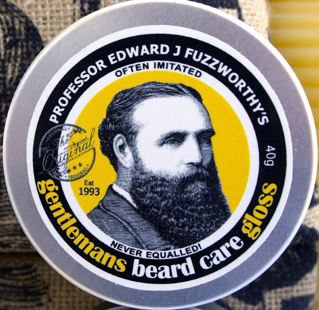 Professor Fuzzworthys Beard Care Gloss and Conditioner with Organic Leatherwood Beeswax and Essential Plant Oils 40g