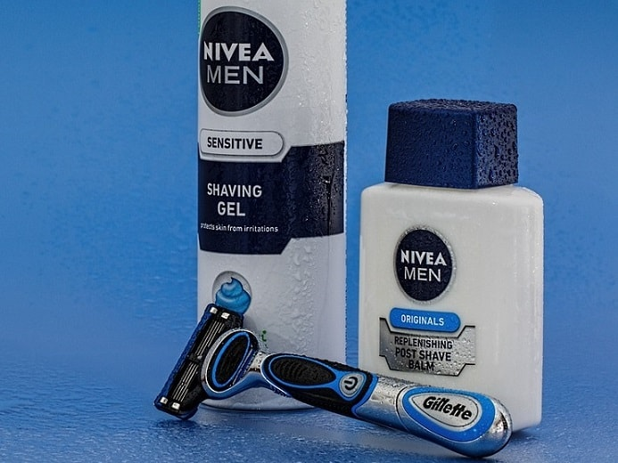 two Nivea products and a razor