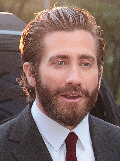 the actor Jake Gyllenhaal wearing a beard