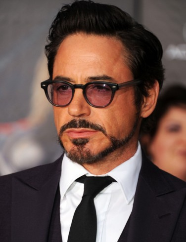 the actor Robert Downey Jr wearing a Balbo beard