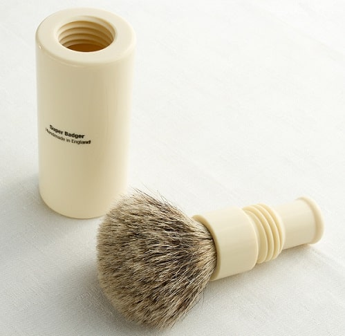 a small travel shaving brush