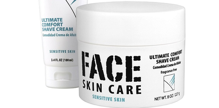 two packages of Face skin care shave cream