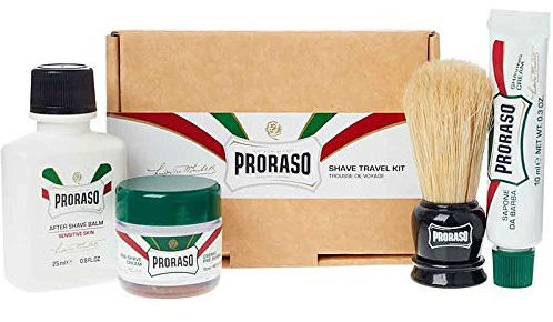 a small Proraso travel shaving kit