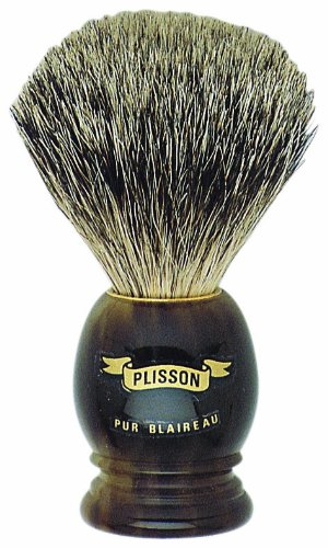 a Plisson shaving brush
