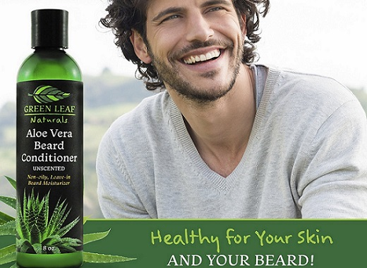 a bottle of Green Leaf Naturals beard conditioner