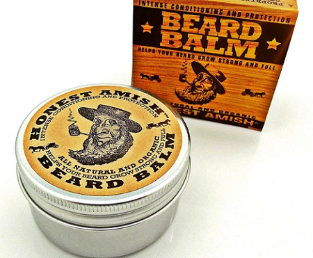 an Honest Amish Beard Balm container