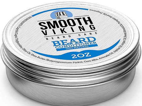 a small container of Smooth Viking beard conditioner
