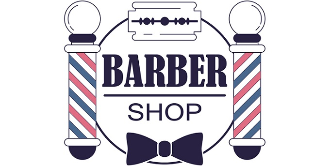 a beautifully-crafted barber shop logo