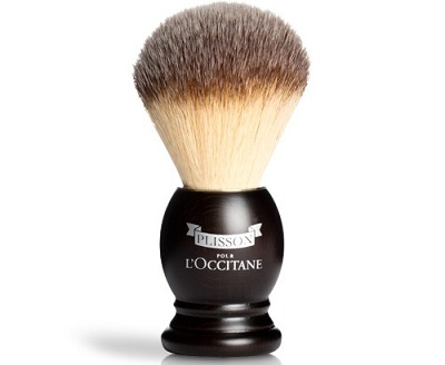 a small and elegant Plisson shaving brush