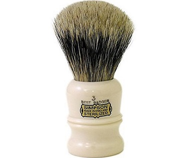 a Simpson Duke 3 Best Badger Shaving Brush