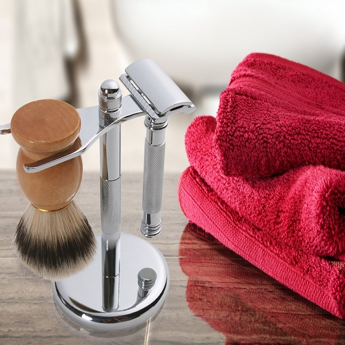 Utopia Care's Deluxe Silver Razor and Brush Stand