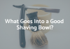 shaving bowl with razor