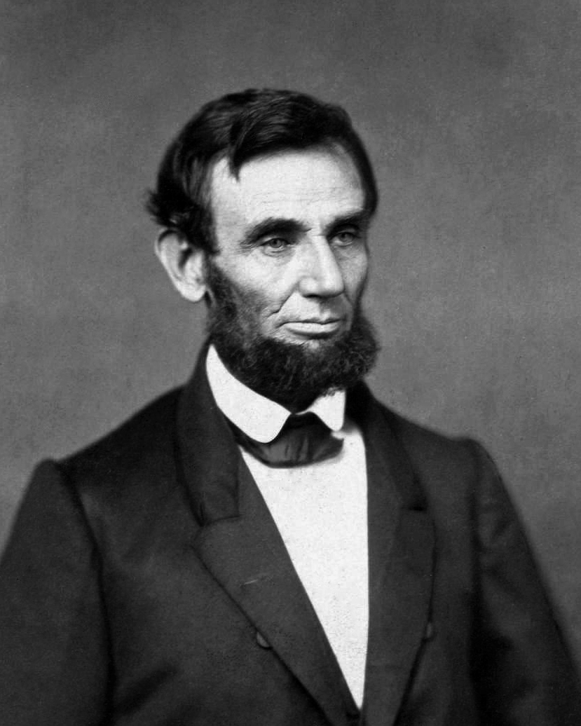 Abraham Lincoln having one of the epic beards