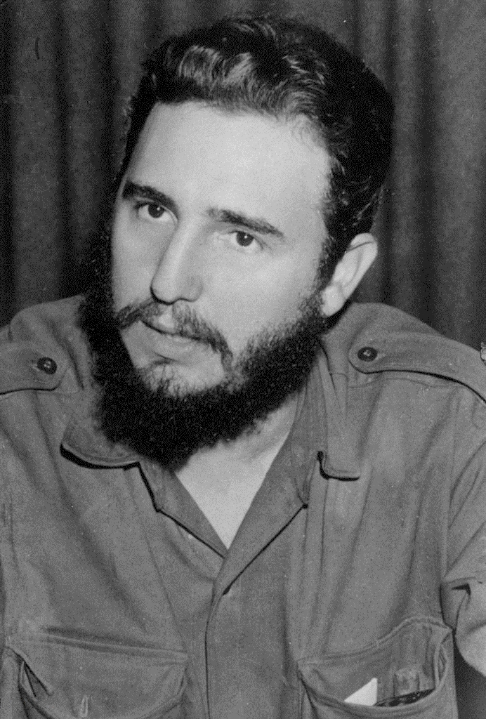 Fidel Castro having one of the epic beards